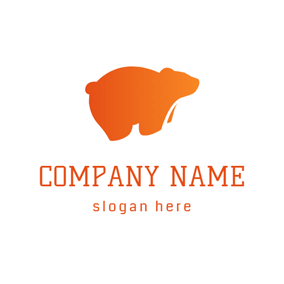 Lovely Outlined Bear logo design