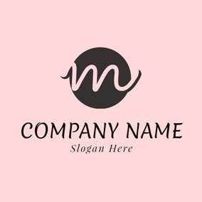 Lovely Pink Letter M logo design