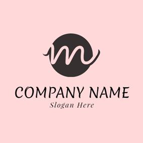 Lovely Pink Letter M Logo Design
