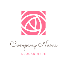 Lovely Pink Rose Bud logo design