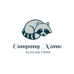 Lovely Raccoon Icon logo design