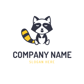 Lovely Small Raccoon Icon logo design
