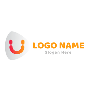 Lovely Smile and Letter U logo design