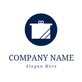 Lovely White Gift Box logo design