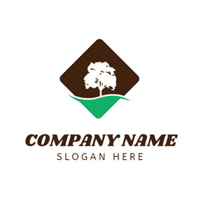 Lush White Tree logo design