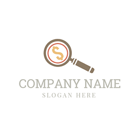 Magnifying Glass and Dollar Sign logo design