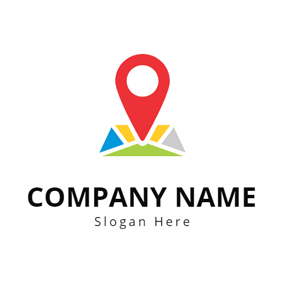 Map Location and Gps logo design