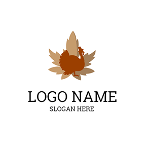 Maple Leaf and Turkey logo design