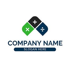 Math Rule Calculate Accounting logo design