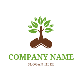 Medicine and Tree Icon logo design