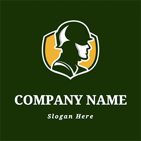 Military Soldier Silhouette logo design