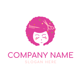 Mode and Afro Woman Hair logo design