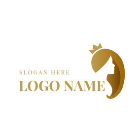 Mode and Long Hair logo design