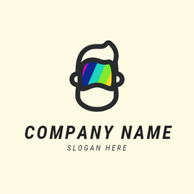 Modern Glasses and Human Head logo design