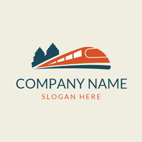 Modern High Speed Train logo design