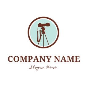 Modern Holder and Camera logo design