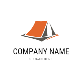 Modern Orange Tent logo design