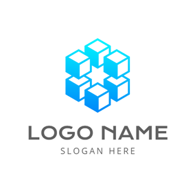 Modern Technology Blockchain logo design