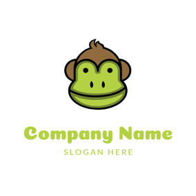 Monkey Face and Kiwi logo design
