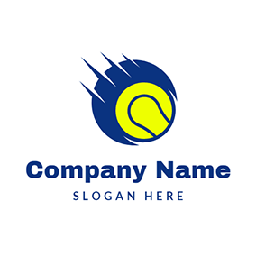 Motion Line and Tennis Ball logo design