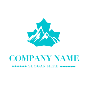 Mountain and Maple Leaf logo design
