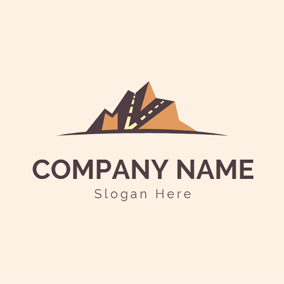Mountain and Steep Hill Road logo design