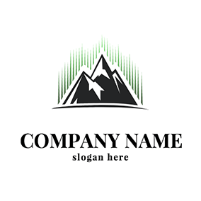 Mountain Peak Abstract Aurora logo design