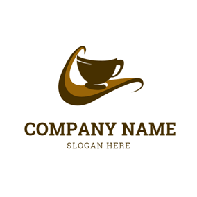 Mug and Coffee Wave logo design