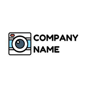 Multicolor Square Instant Camera logo design