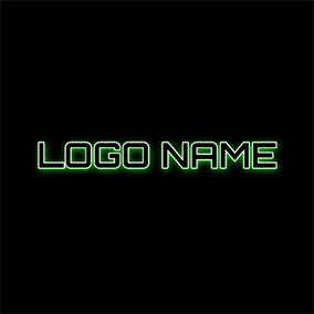 Neon Light and Black Cool Text logo design