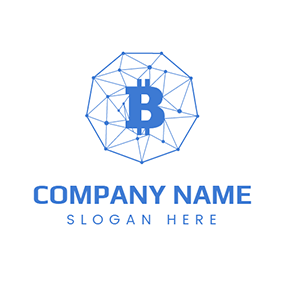 Net Chain and Bitcoin logo design