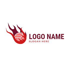 Netball With Fire logo design