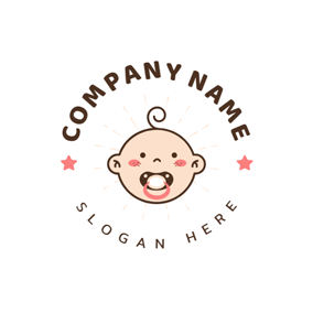 Nipple and Cute Baby logo design