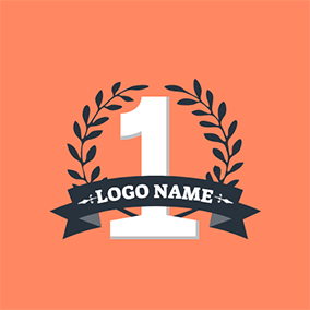Number One and Black Branch logo design