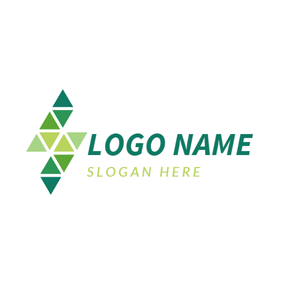 Numerous Triangle and Lightning logo design