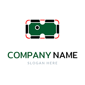 Oblong Billiard Table logo design