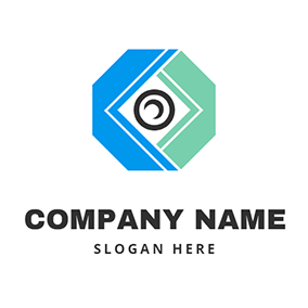 Octagonal Optical Logo logo design