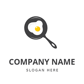 Omelette and Small Pan logo design