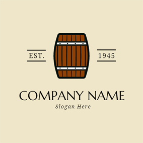 One Brown and Black Barrel logo design