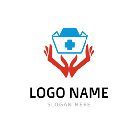 Open Hand and Nurse Cap logo design