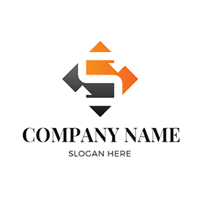 Orange and Black Stock Icon logo design
