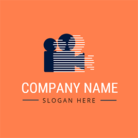 Orange and Blue Video logo design