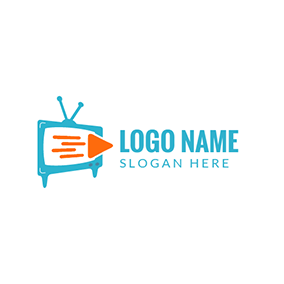 Orange and Green Television logo design