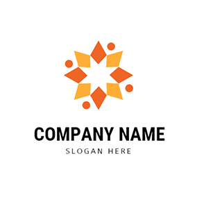 Orange and Yellow Polaris Pattern logo design