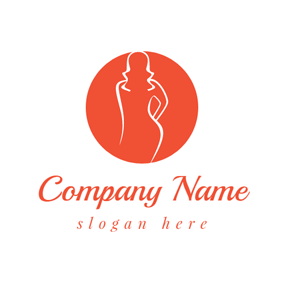 Orange Beauty and Fashion Brand logo design