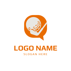 Orange Bubble and Golf Ball logo design