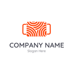 Orange Clew and Needlework logo design