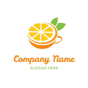 Orange Cup and Yellow Slice logo design