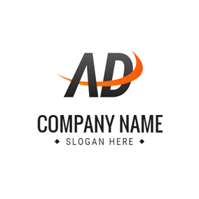 Orange Decoration and Simple Ad logo design