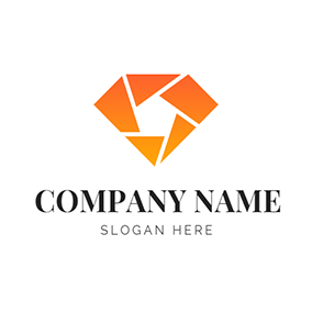 Orange Diamond Lens logo design
